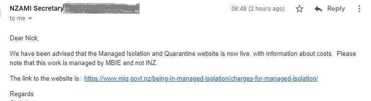 【重要】政府出台隔离豁免及隔离费用细则,隔离管理网站上线!