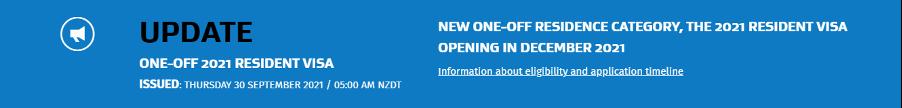 检查您是否有资格申请 新西兰2021 年居民签证